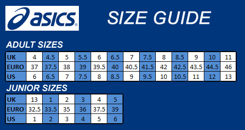 Junior Shoe Size Chart